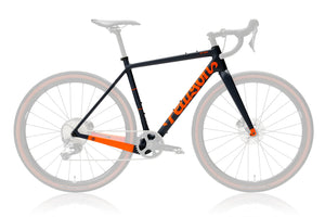Off Grid - Carbon Gravel Frameset Blue/Orange-Pearson1860