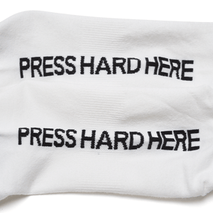 Press Hard Here - Socks
