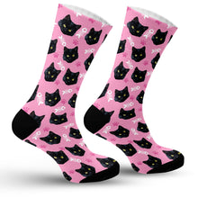Load image into Gallery viewer, Cat Face Socks