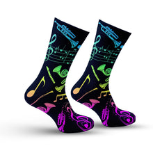 Load image into Gallery viewer, Colorful Music Notes Socks