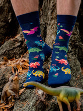 Load image into Gallery viewer, Dinosaur Party Socks
