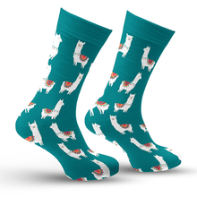 Load image into Gallery viewer, Green Llama Socks