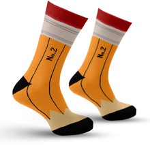 Load image into Gallery viewer, Yellow Pencil Socks