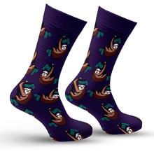 Load image into Gallery viewer, Sloth & Eucalyptus Socks