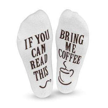 Load image into Gallery viewer, If You Can Read This! Coffee Socks