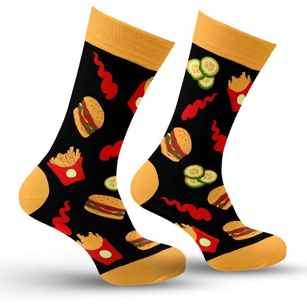 Hamburger & Fries Socks