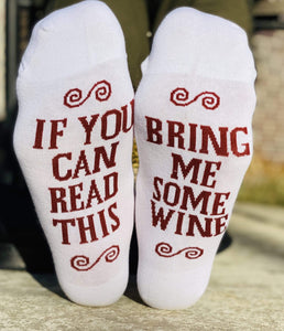 If You Can Read This! Wine Socks