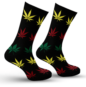 Multi Colored Leaf Socks