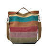 Large Canvas Tote Bag - Colorful Women Handbag