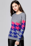 Ruby Houndstooth Sweater Top