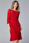 Fire Lace Midi Dress