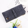 Women Foldable Suede Zip Wallet