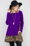Kori Leopard Terry Dress