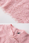 Venus Pink Lace Dress