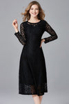 Solid Vela Lace Midi Dress