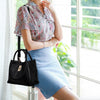 Women's Retro Leather Tote Bag