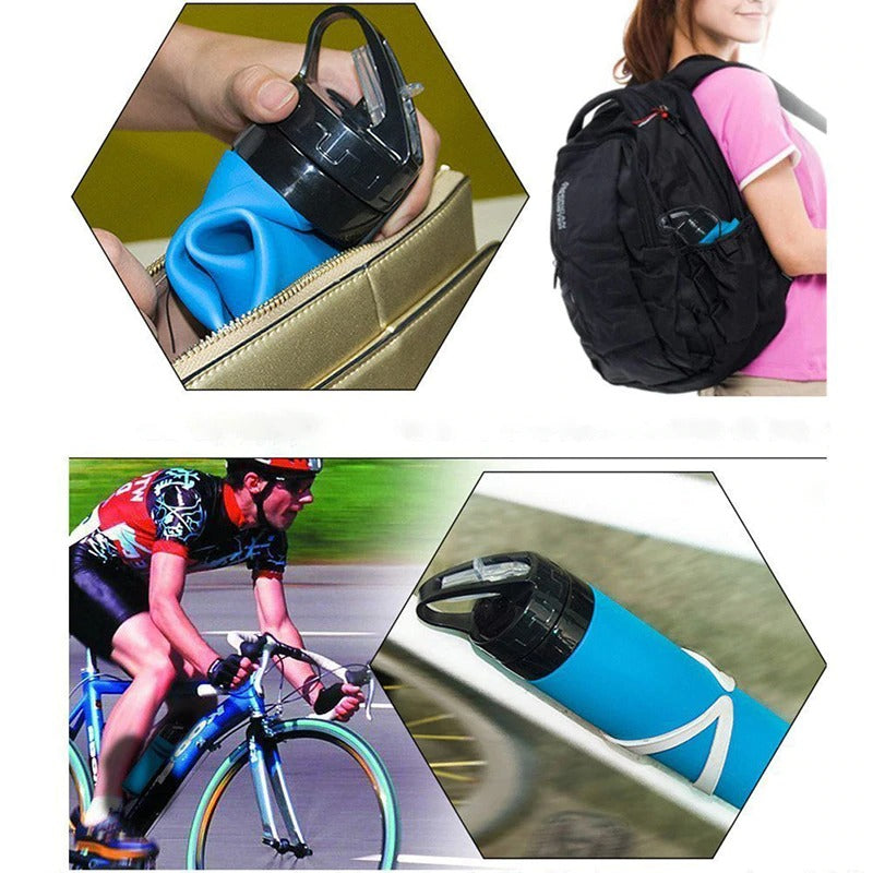 Foldable Silicone Water Bottle 600ML