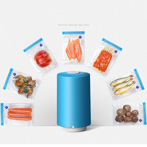 Rechargeable Vacuum Food Sealer with 5 Pieces Recycle Bags