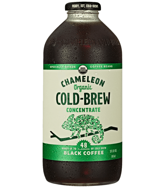 Chameleon Organic Cold Brew Black Coffee Concentrates - 32oz. - Greenwich Village Farm