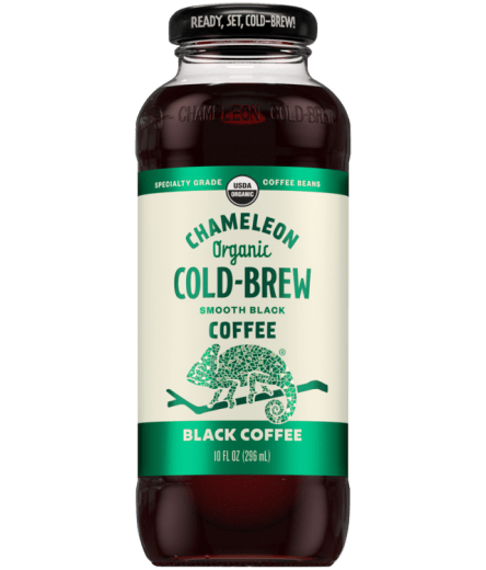 Chameleon Organic Cold Brew Black Coffee- 10oz. - Greenwich Village Farm