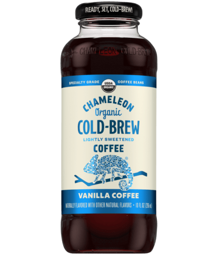 Chameleon Organic Cold Brew Vanilla Coffee - 10oz. - Greenwich Village Farm