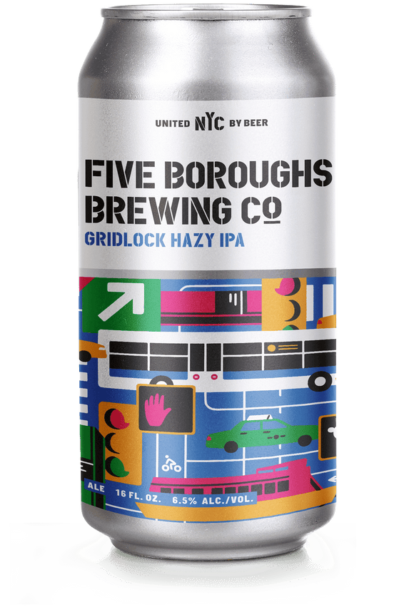 Five Boroughs Gridlock Hazy IPA - 16oz. Can - Greenwich Village Farm