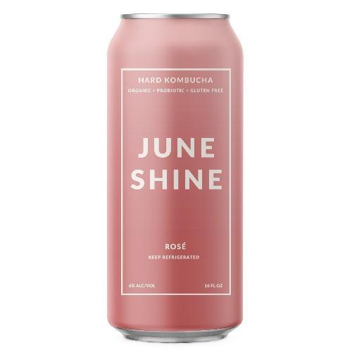 Juneshine Hard Kombucha Rose 16oz. Can