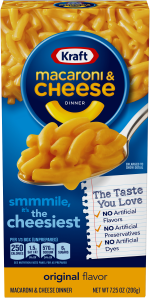 Kraft Macaroni & Cheese 7.25oz.