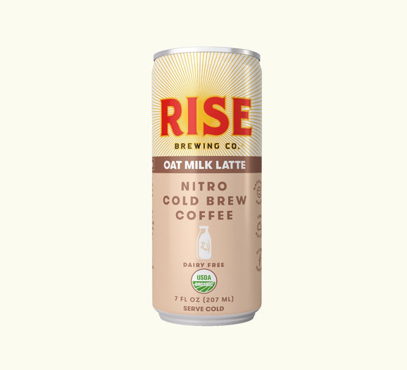 Rise Brewing Cold Brew Oat Milk Latte  7oz. Can - Greenwich Village Farm