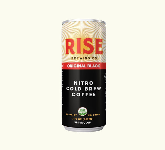 Rise Brewing Cold Brew Original Black Coffee 7oz. Can - Greenwich Village Farm
