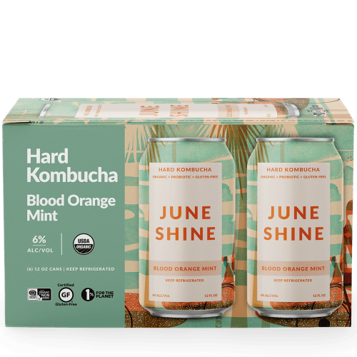 Juneshine Hard Kombucha Blood Orange Mint 12oz. Can