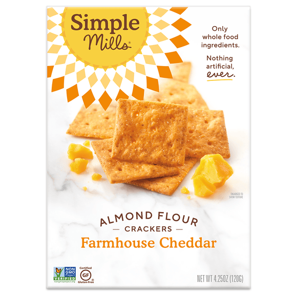 Simple Mill Almond Flour Crackers Farmhouse Cheddar 4.25oz. - Greenwich Village Farm