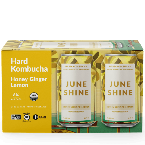 Juneshine Hard Kombucha Honey Lemon Ginger 12oz. Can