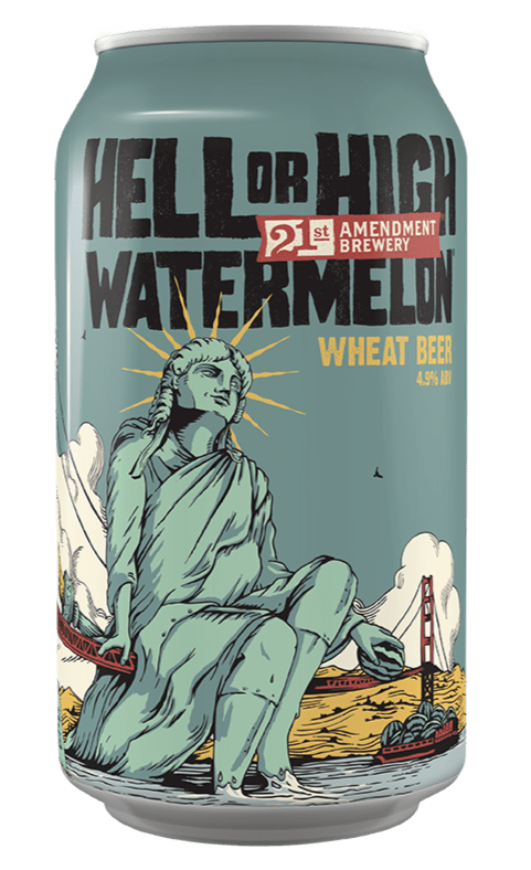 21st Amendment Hell or High Watermelon 12oz. Can - Greenwich Village Farm