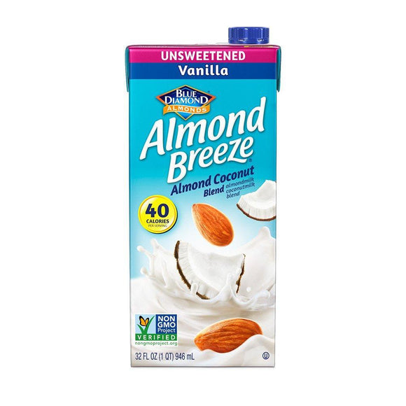 Almond Breeze Almond  Milk Vanilla Unsweetened - 32oz. - Greenwich Village Farm