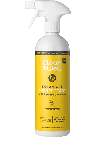 Clean Well Disinfectant All Purpose Cleaner Lemon 24oz.