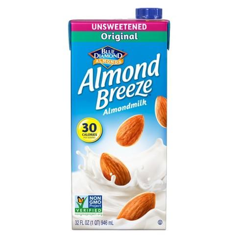Almond Breeze Almond  Milk  Original Unsweetened - 32oz. - Greenwich Village Farm