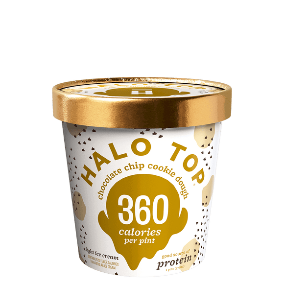 Halo Top Ice Cream Chocolate Chip Cookie Dough 16oz. - Greenwich Village Farm