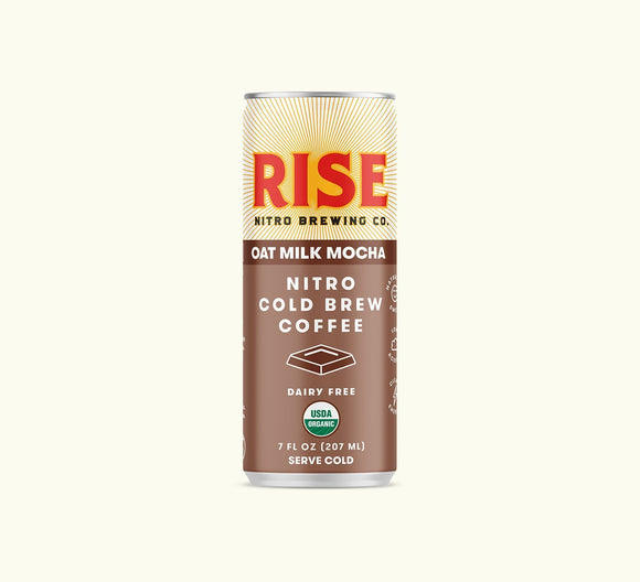 Rise Brewing Cold Brew Oat Milk Mocha Latte  7oz. Can - Greenwich Village Farm