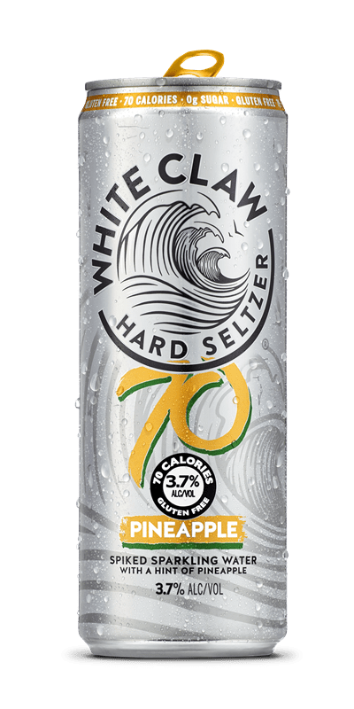 White Claw Hard Seltzer 70 Pineapple 12oz. Can - Greenwich Village Farm