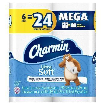Charmin Toilet Paper Ultra Soft Mega Roll 6 Pack - Greenwich Village Farm