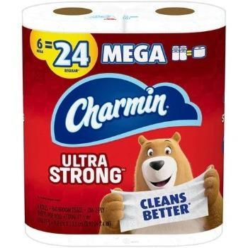 Charmin Toilet Paper Ultra Strong Mega Roll 6 Pack - Greenwich Village Farm
