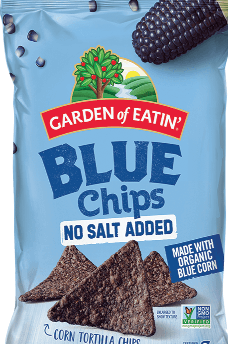 Garden of Eatin'  Blue Corn Unsalted Tortilla Chips 8.1oz. - Greenwich Village Farm