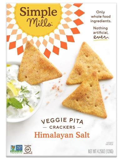 Simple Mill Veggie Pita Crackers Himalayan Salt 4.25oz. - Greenwich Village Farm