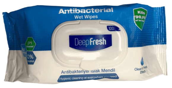 Deep fresh Antibacterial Wipes 100pcs. - Greenwich Village Farm