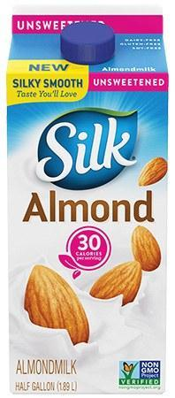 Silk Almond Milk  Original Unsweetened - 64oz. - Greenwich Village Farm