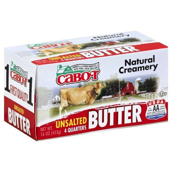 Cabot Butter Unsalted 16oz. - Greenwich Village Farm