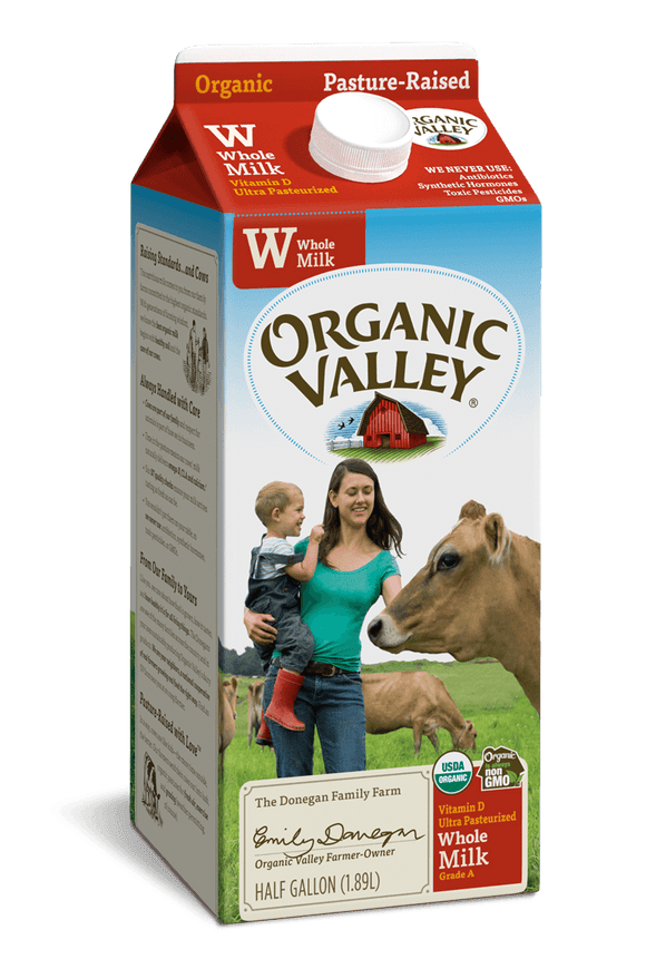 Organic Valley Whole Milk Half Gallon - Greenwich Village Farm