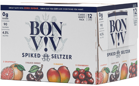 BON V!V Spiked Seltzer Variety Pack 12oz. Can - Greenwich Village Farm