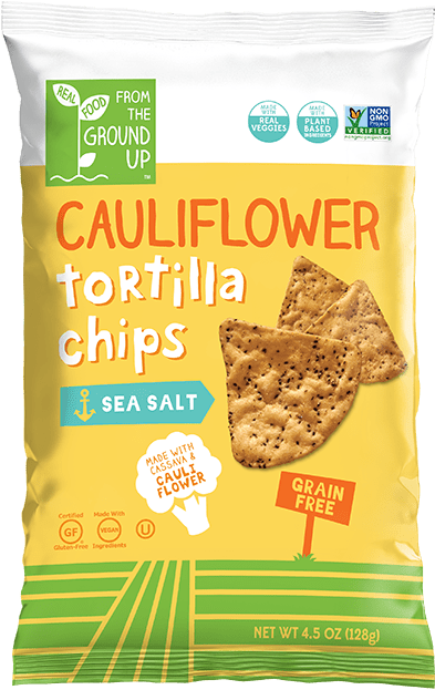 Ground Up Cauliflower Tortilla Chips  Sea Salt - 4.5 oz. - Greenwich Village Farm
